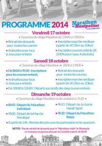 Programme Marathon de Montpellier
