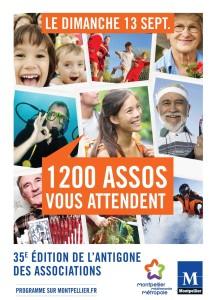 Affiche de l'Antigone des associations 2015 - 1200 assos vous attendent